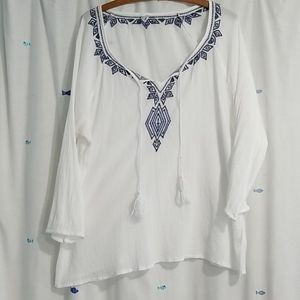 Old navy White top with ties-XL